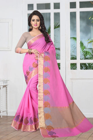 Pink Color Banarasi Silk Saree - SIM-SIM1100