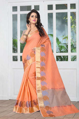 Orange Color Banarasi Silk Saree - SIM-SIM1101