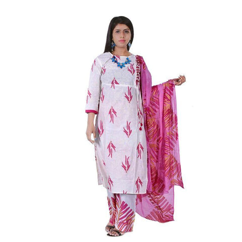 Light Pink Color Rayon Women's Semi Stitched Kurti With Palazzo - SK-KP214