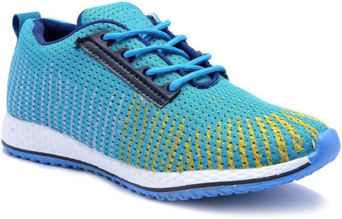 SkyBlue Color Mesh Men Shoe - SKY-Multi