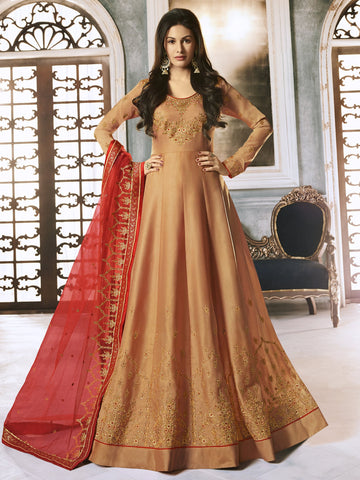 Orange Color Orange Women's Semi-Stitched Salwar suit - SL-2251