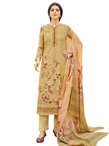 Yellow Color Pure Silk Women's Un-Stitched Dress Material - SL-2268