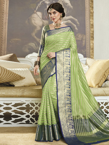 Green Color Banarasi Silk Women's Saree - SL-2304