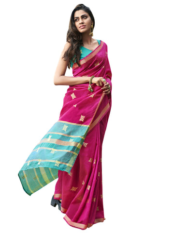Magenta Color Chanderi Silk Women's Saree - SL-2314