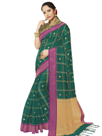 Green Color Banarasi Silk Women's Saree - SL-2319