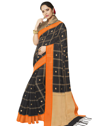 Black Color Banarasi Silk Women's Saree - SL-2320
