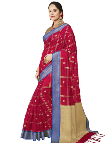 Red Color Banarasi Silk Women's Saree - SL-2321