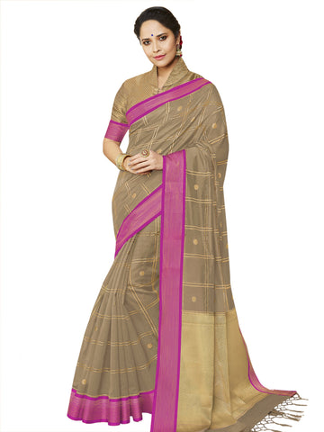 Beige Color Banarasi Silk Women's Saree - SL-2322