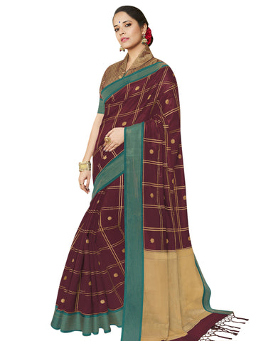 Maroon Color Banarasi Silk Women's Saree - SL-2323
