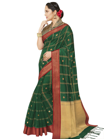 Green Color Banarasi Silk Women's Saree - SL-2324