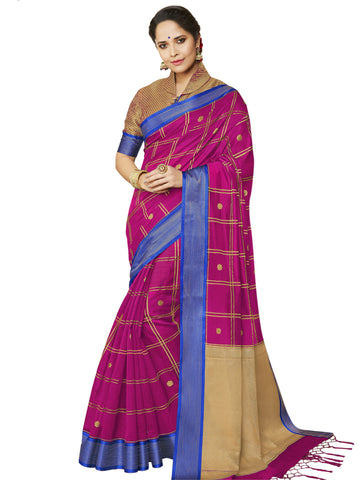 Magenta Color Banarasi Silk Women's Saree - SL-2326