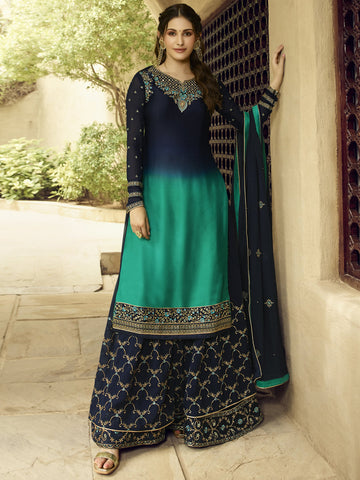 Multi Color Satin Women's Semi-Stitched Salwar Suit - SL-2370