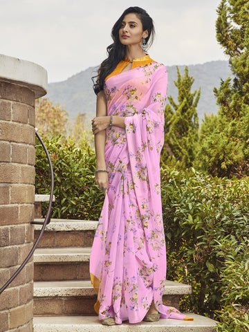 Pink Color Linen Women's Saree - SL-2391