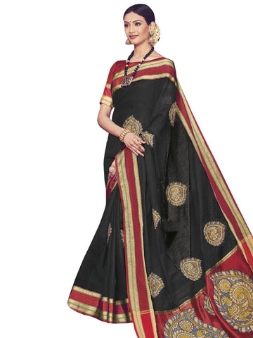Black Color ArtSilk Saree - SLS-1947