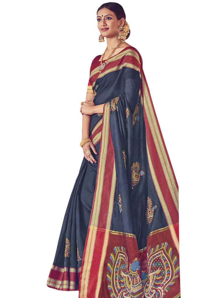Buy NavyBlue Color ArtSilk Saree