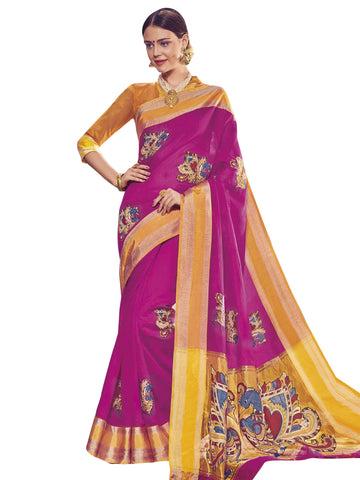 Magenta Color ArtSilk Saree - SLS-1952