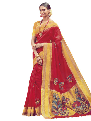 Red Color ArtSilk Saree - SLS-1955