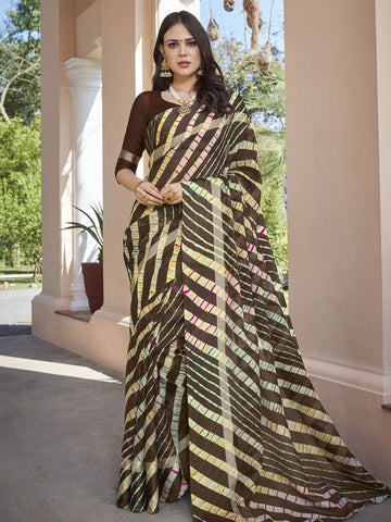 Brown Color Kota Silk Saree - SLS-1972