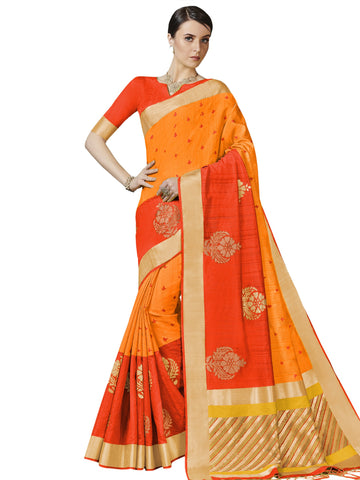Orange Color Bhagalpuri Silk Saree - SLS-2014