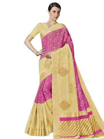 Pink Color Bhagalpuri Silk Saree - SLS-2016