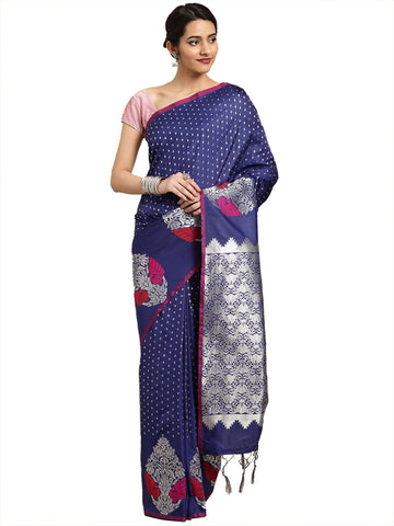 NavyBlue Color Banarasi Silk Saree - SLS-2071