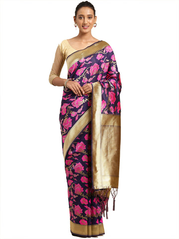 NavyBlue Color Banarasi Silk Saree - SLS-2083
