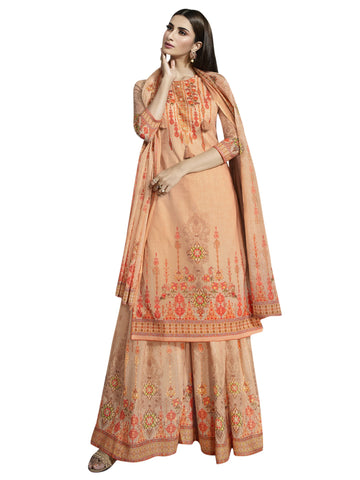 Orange Color Cotton Unstitiched Salwar - SLS-2092