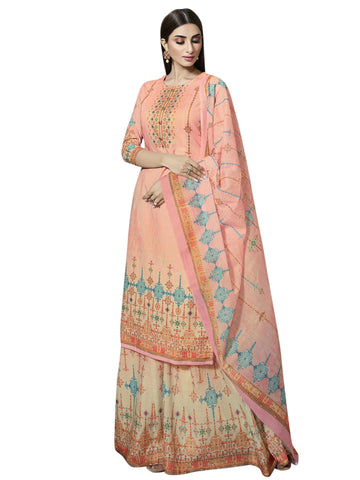 Pink Color Cotton Unstitiched Salwar - SLS-2094