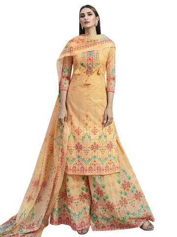 Peach Color Cotton Unstitiched Salwar - SLS-2096