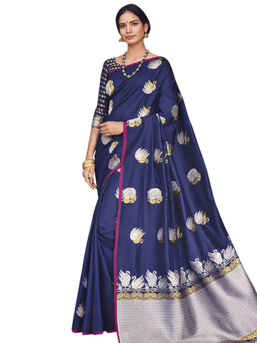 Blue Color Banarasi Silk Saree -  SLS-2110