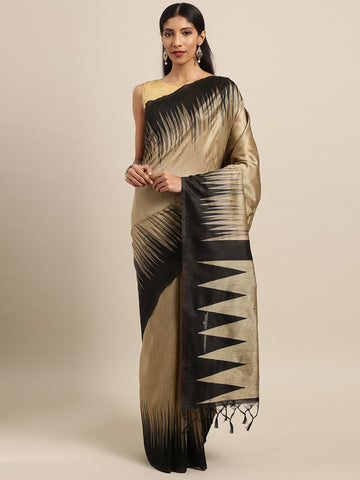 Beige Color Ikkat Silk Saree -SLS-2133