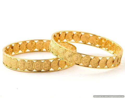 Golden Color Alloy Bangles - SMCB17