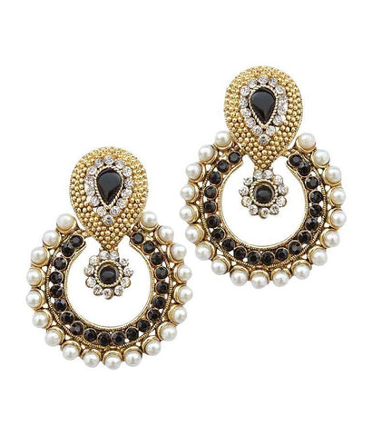 Black Color Alloy Ear Rings - SMCE52