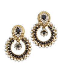 Golden and Black Color Earring