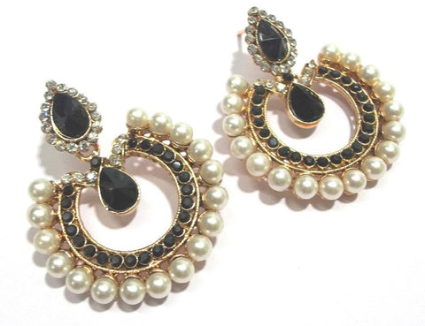 Black Color Alloy Ear Rings - SMCE61