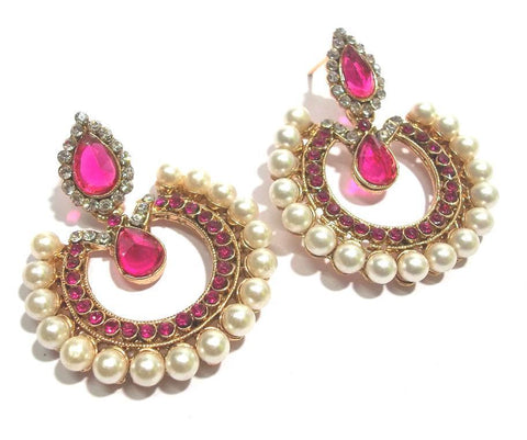 DarkPink Color Alloy Ear Rings - SMCE65