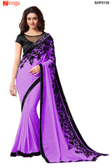 SRP FASHION- women's Beautiful Georgette saree  - SOF0130
