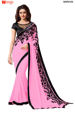 SRP FASHION- women's Beautiful Chiffon saree  - SOF0133