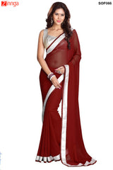 SRP FASHION- women's Beautiful Georgette saree  - SOF066