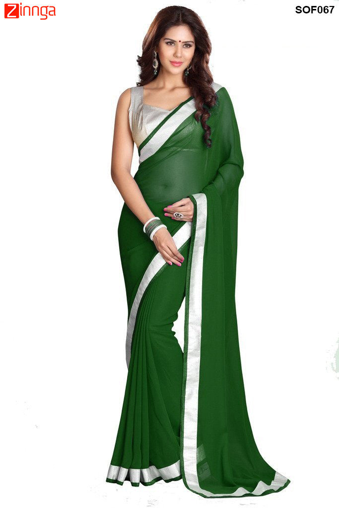SRP FASHION- women's Beautiful Georgette saree  - SOF067