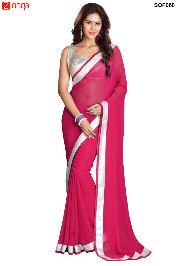 SRP FASHION- Women's Beautiful Georgette Saree  - SOF068