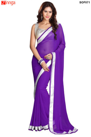 SRP FASHION- women's Beautiful Georgette saree  - SOF071