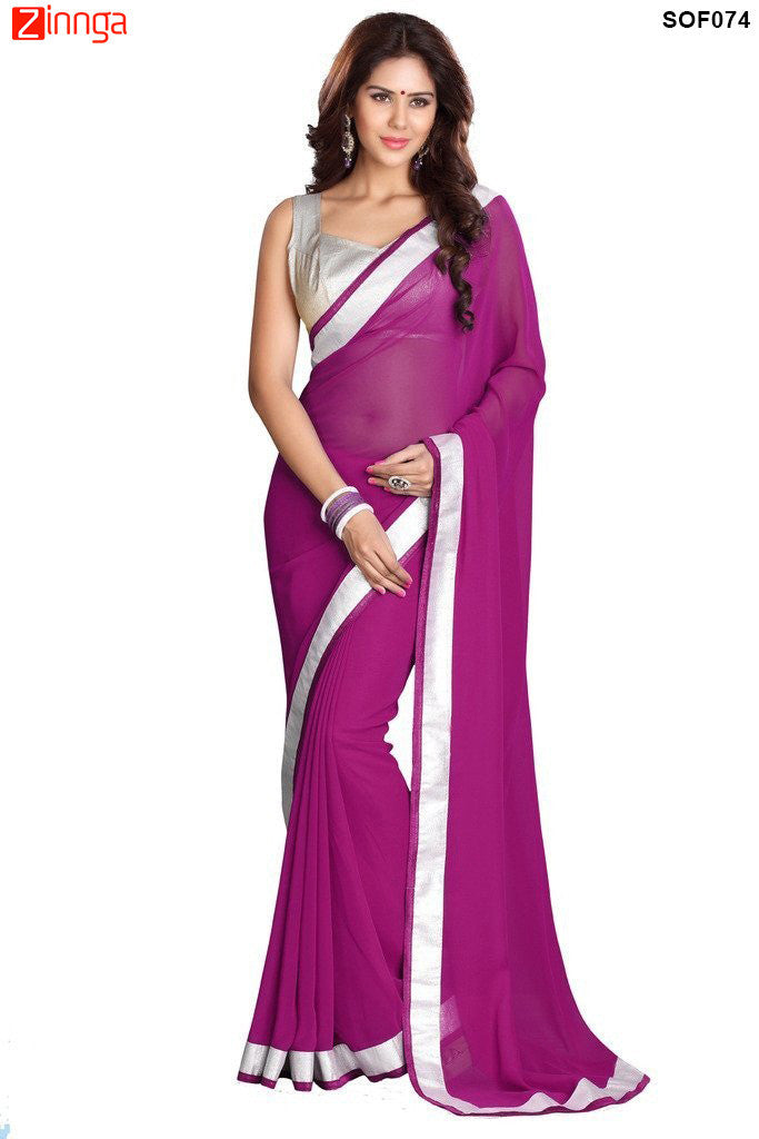 SRP FASHION- women's Beautiful Georgette saree  - SOF074