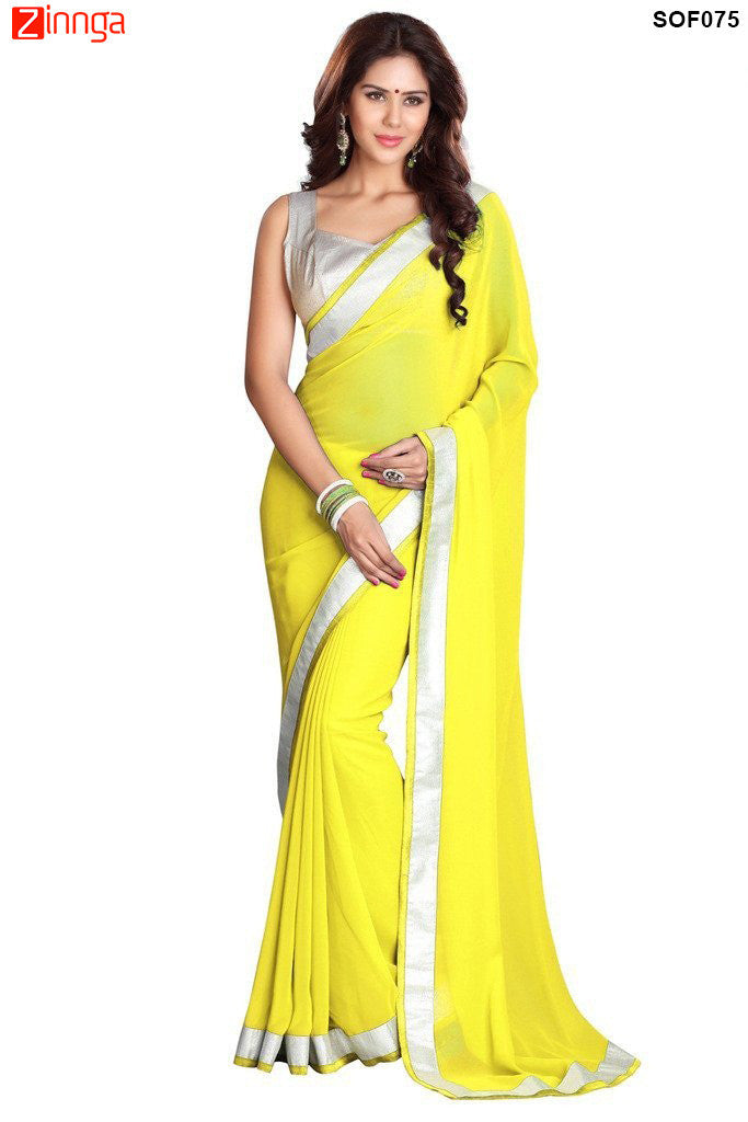 SRP FASHION- women's Beautiful Georgette saree  - SOF075