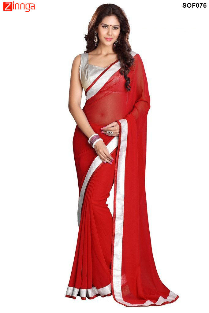SRP FASHION- women's Beautiful Georgette saree  - SOF076