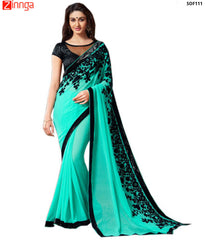 SRP FASHION- women's Beautiful Georgette saree  - SOF111