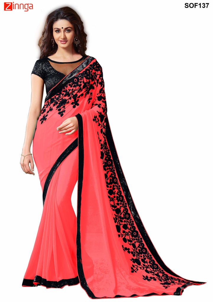 SRP FASHION- women's Beautiful Georgette saree   - SOF137