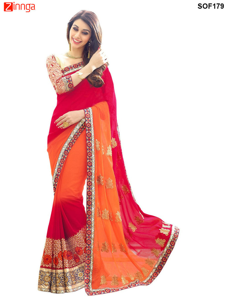 SRP FASHION- women's Beautiful Georgette saree   - SOF179