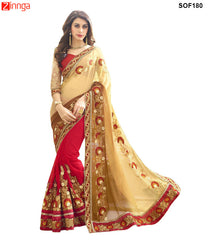 SRP FASHION- women's Beautiful Georgette saree   - SOF180