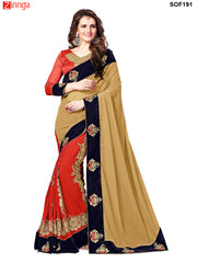 SRP FASHION- women's Beautiful Georgette saree   - SOF191